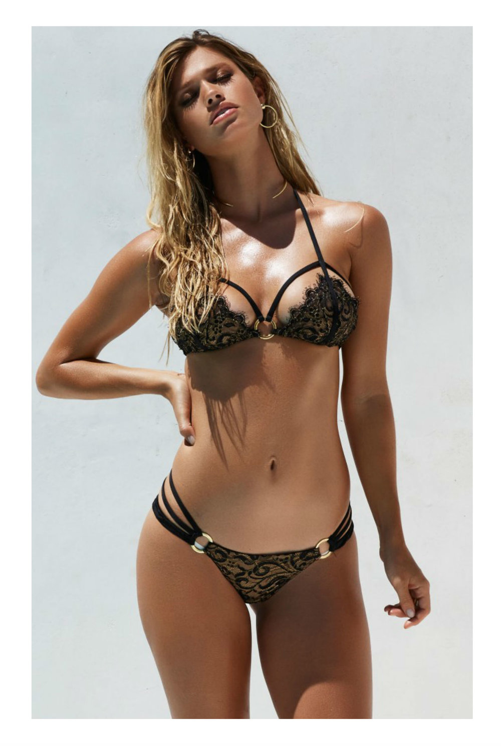 Beach Bunny Gunpowder & Lace Bikini - Black & Gold from £100.00