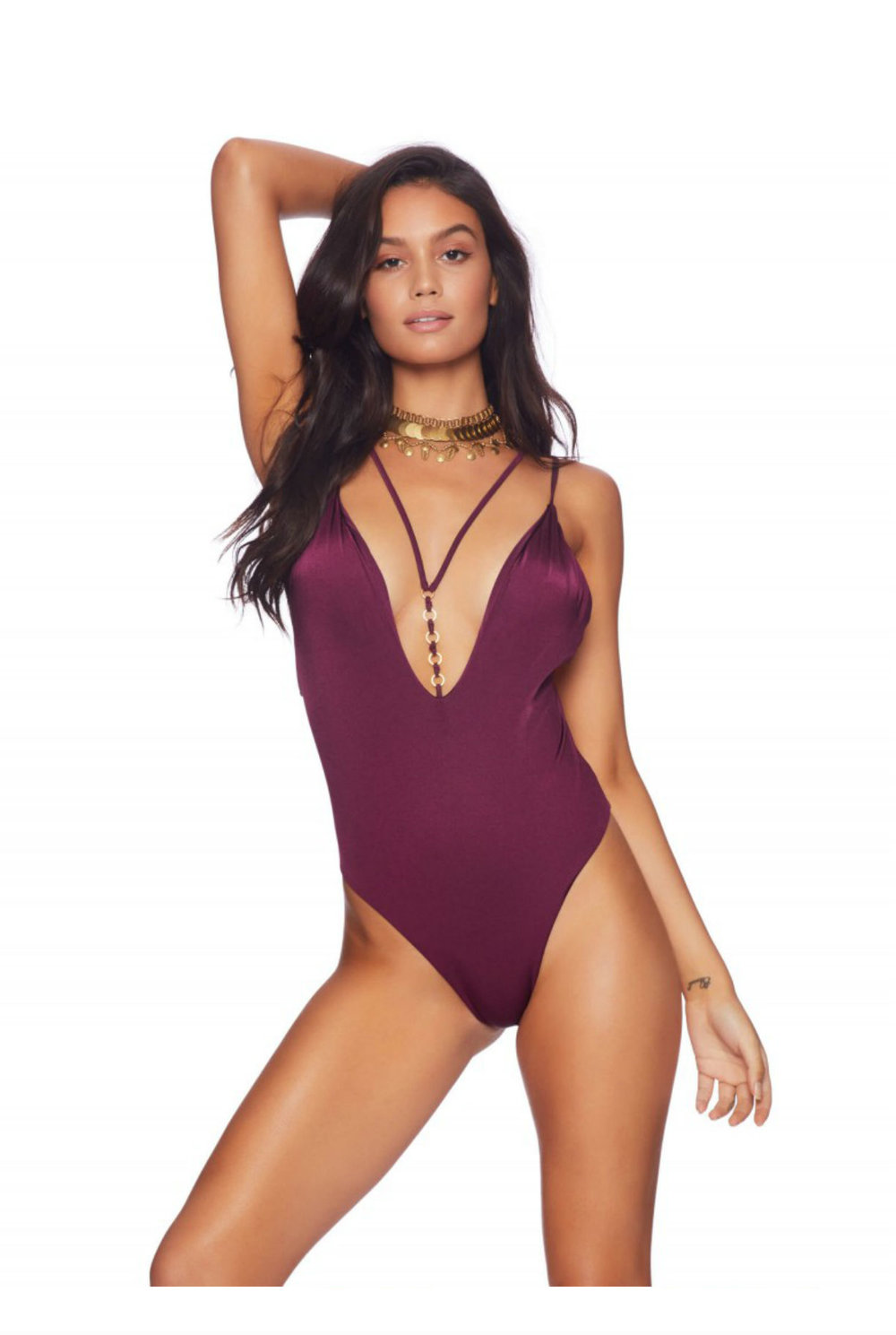 NEW Beach Bunny Ireland One Piece Swimsuit - Plum £150.00