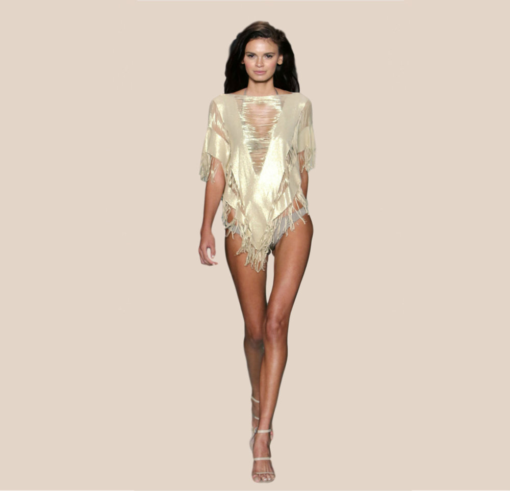 NEW Indian Summer Poncho Gold £110