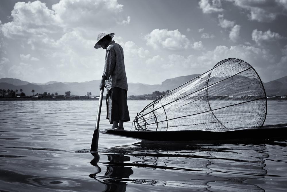 Fisherman, Myanmar
