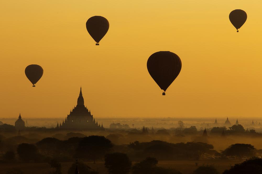 Bagan balloons, Myanmar
