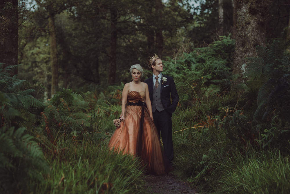 David & Victoria's wedding on Inchcailloch island, Loch Lomond and at One Devonshire Gardens in Glasgow, Scotland in autumn 2015
