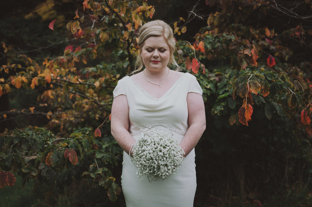 Fiona & Graeme's autumn wedding at Kirknewton House Stables near Edinburgh, Scotland