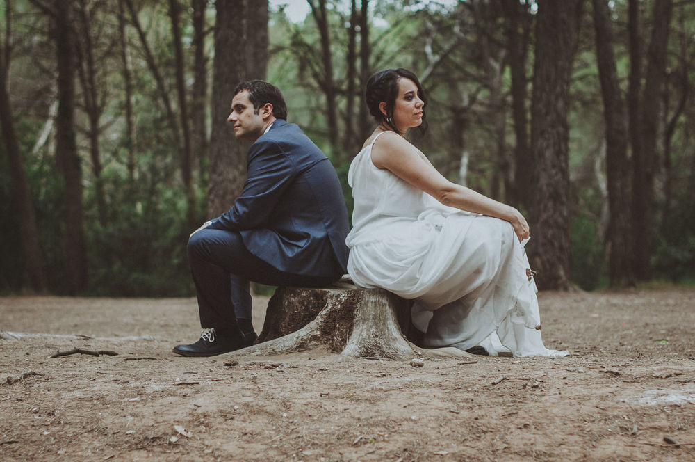 Natalia & Luis's alternative wedding at Masia de Can Deu in Sabadell near Barcelona, Spain