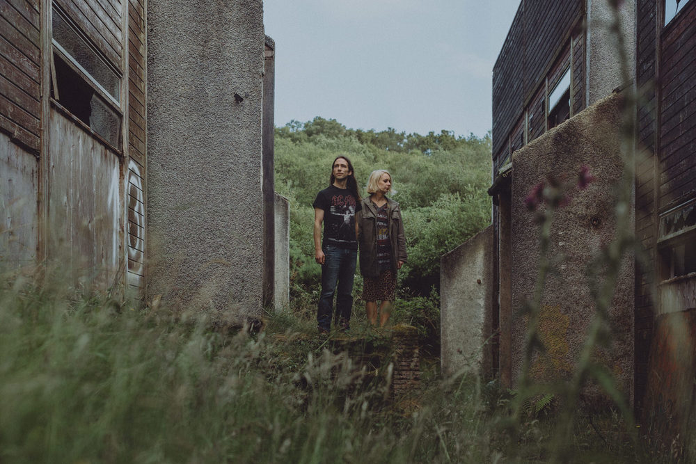 Rhianna & Richie's alternative couple shoot at the abandoned Polphail ghost village