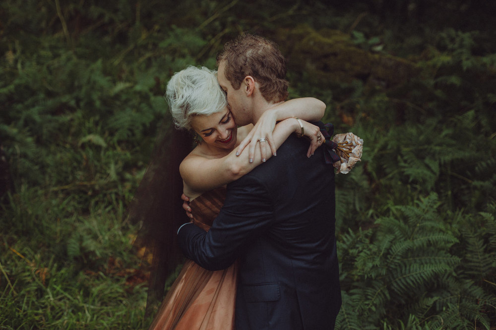 Victoria & David's intimate Inchcailloch island wedding on Loch Lomond