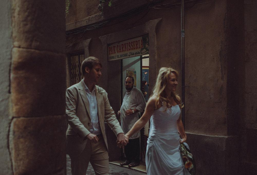 Carles & Mirka's alternative beach wedding in Barcelona, Spain