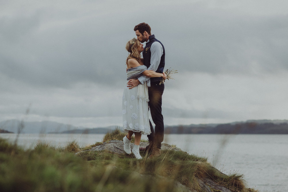 Dom & Leanne's intimate Scottish elopement at Old Castle Lachlan