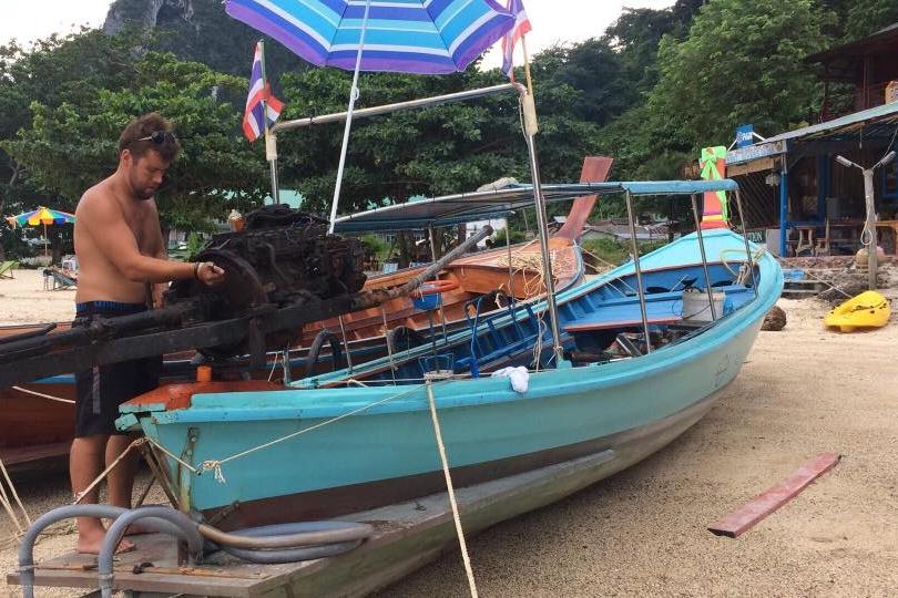 PADI Divemaster Sammy - Beachfront Divers - Koh Phi Phi, Thailand