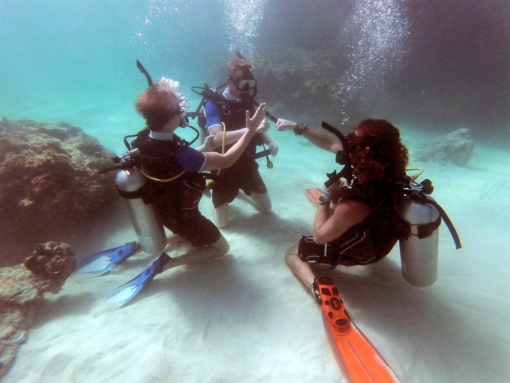 Underwater Skills - PADI Open Water Course - Koh Phi Phi, Thailand