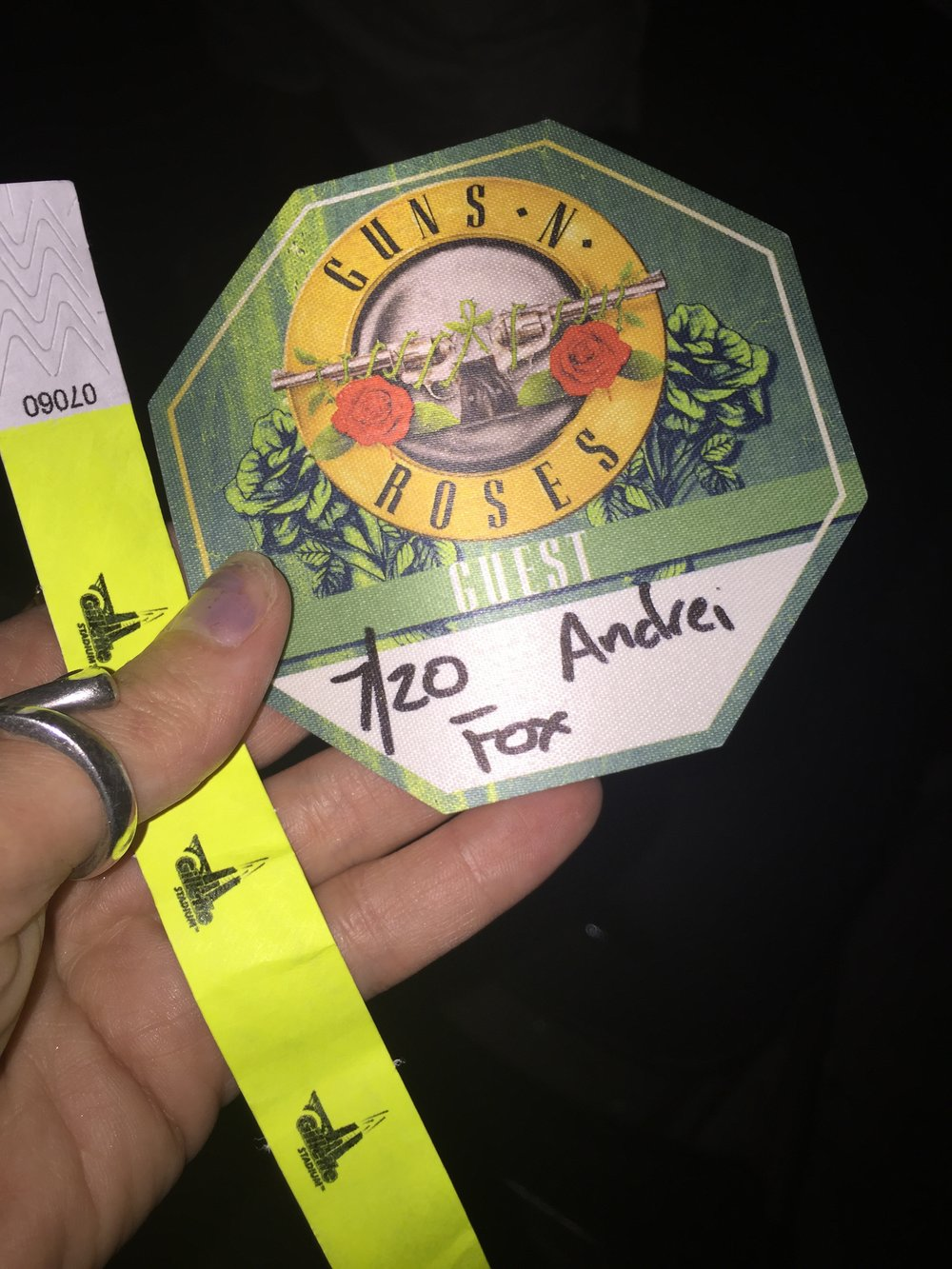guns n roses backstage pass