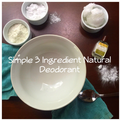 1/4 cup baking soda 1/4 cup cornstarch 1/2 coconut oil Optional: few drops of essential oil of your preference