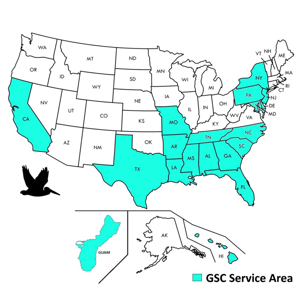 GSC Service Area