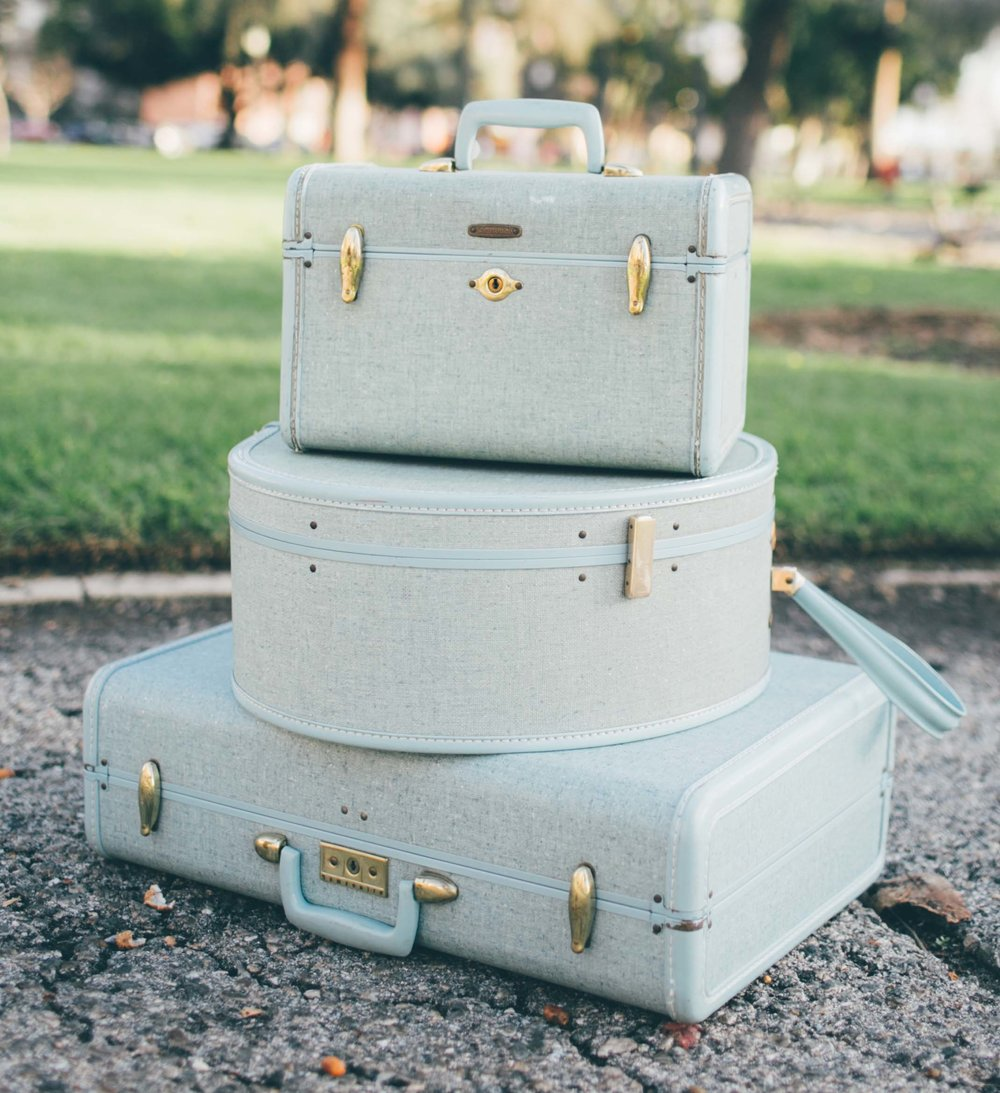 Brianna Robin's Egg Blue Luggage