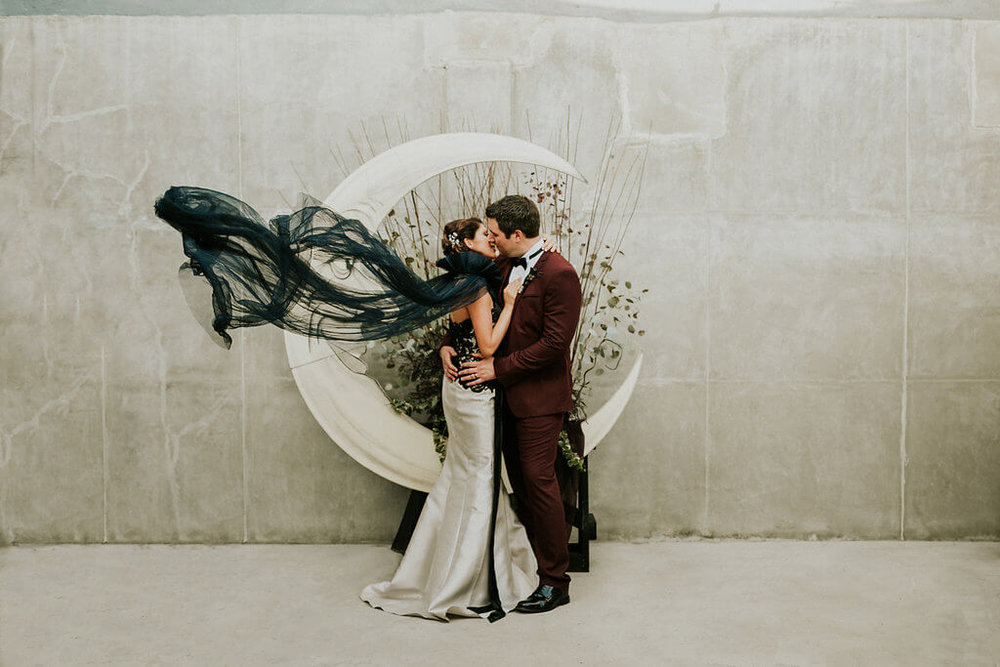 Featured on Green Wedding Shoes | Tim Burton-Inspired Wedding