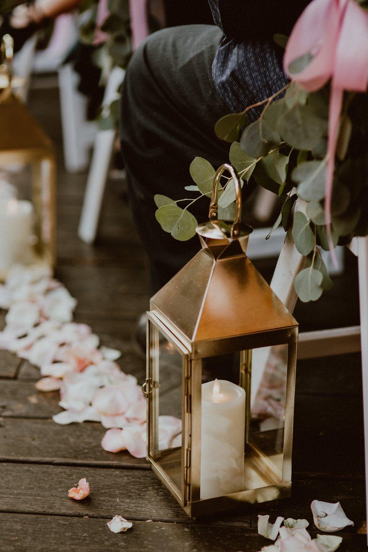 Gabrielle Shiny Gold Carriage Lantern
