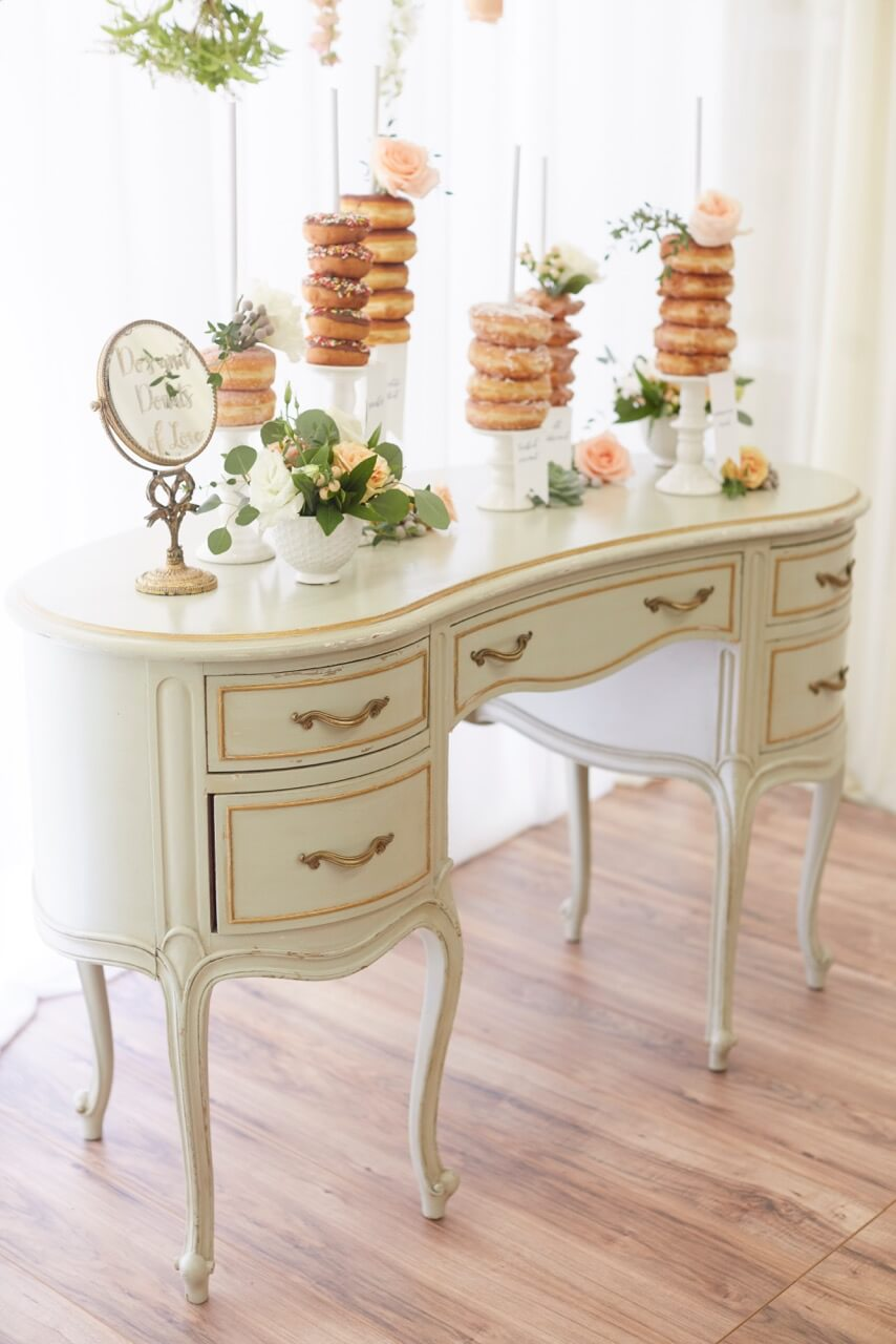 Elliette Kidney-Shaped Five Drawer Desk