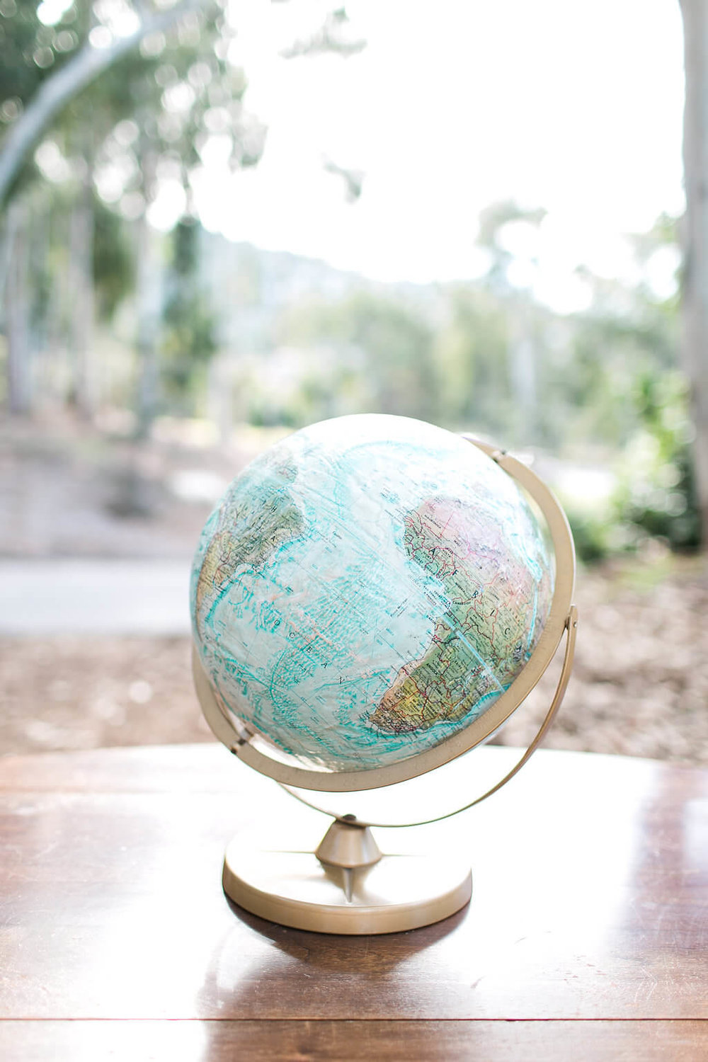 Regent Light Blue World Globe