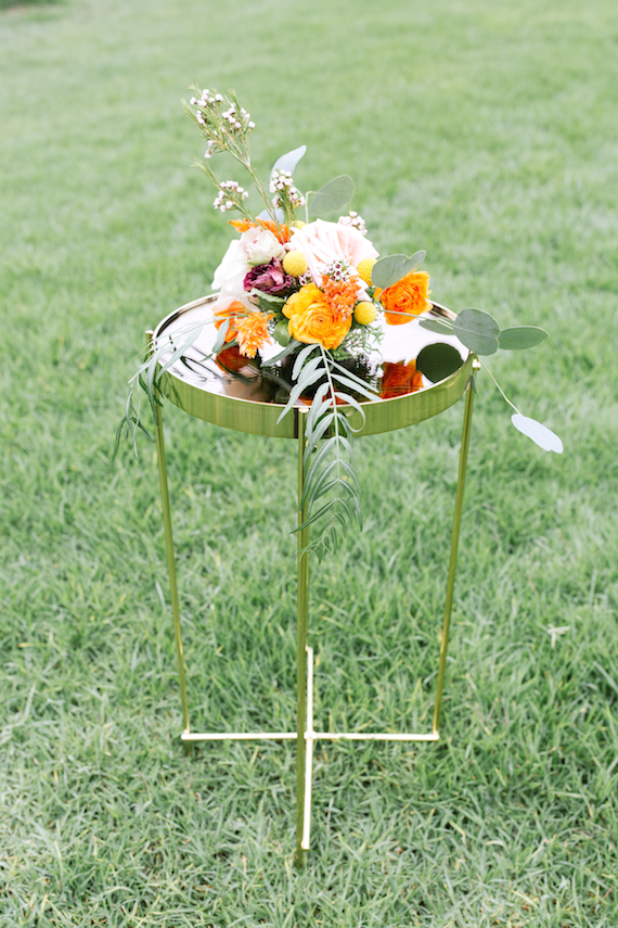 Cressida Gold Mirrored Accent Table