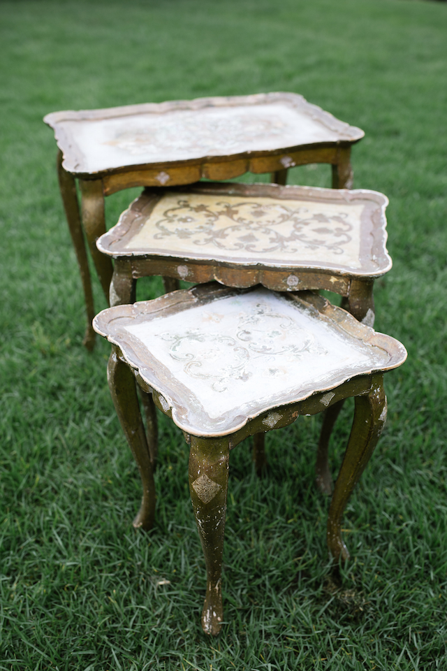 Isabella Gold Nesting Tables, Set of Three
