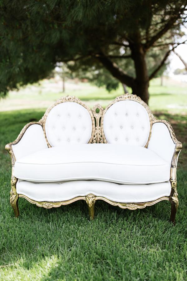 Ashley French Settee 1   Provenance Vintage Rentals Los Angeles Vintage  Furniture Rentals Vintage Wedding Decor