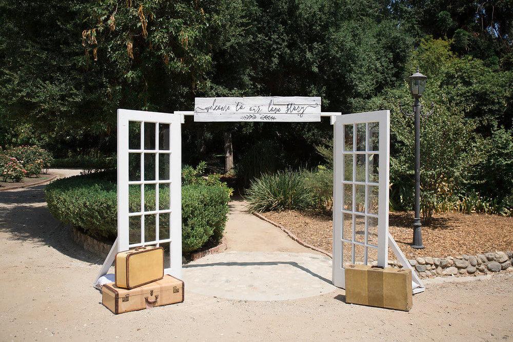 Provenance Vintage Rentals Los Angeles Vintage Door Ceremony Doors Grand Entrance French Doors Los Angeles