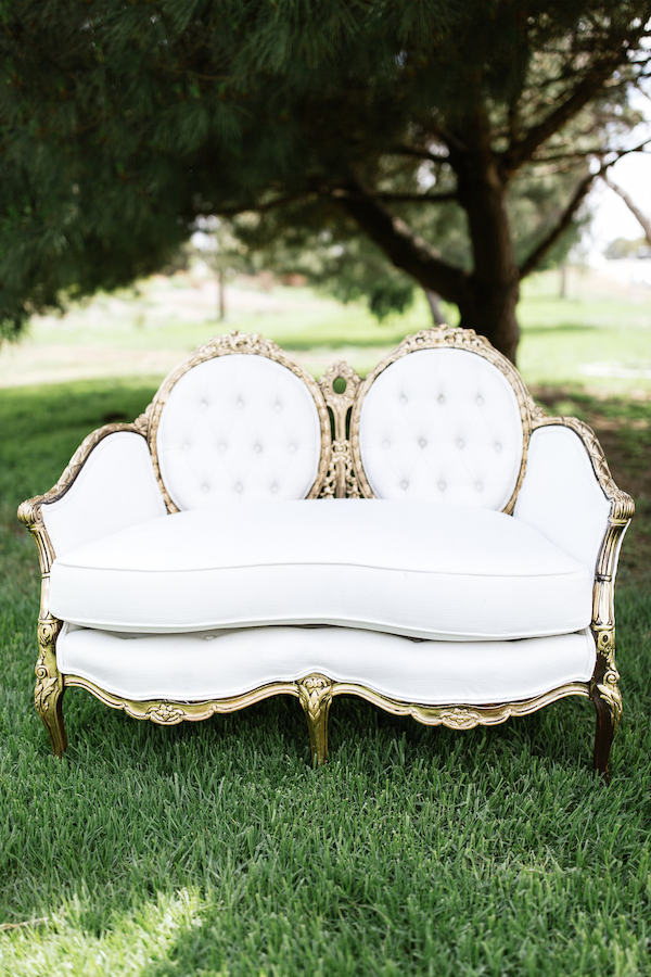 Ashley French Settee 1 - Provenance Vintage Rentals Los Angeles Vintage Furniture Rentals Vintage Wedding Decor Rentals Party Rentals Modern Furniture Rentals