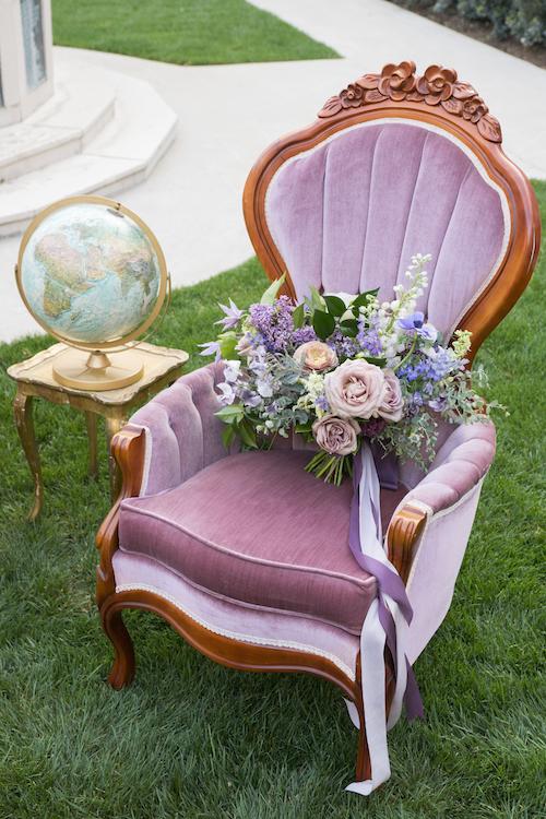 Violet Parlor Chair 1 - Provenance Vintage Rentals Purple Parlor Chair Sweetheart Table Rental Vintage Furniture Lounge Party Rentals Vintage Furniture Rentals Los Angeles