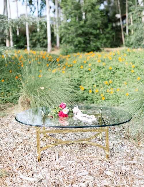 Tiffany Brass Coffee Table