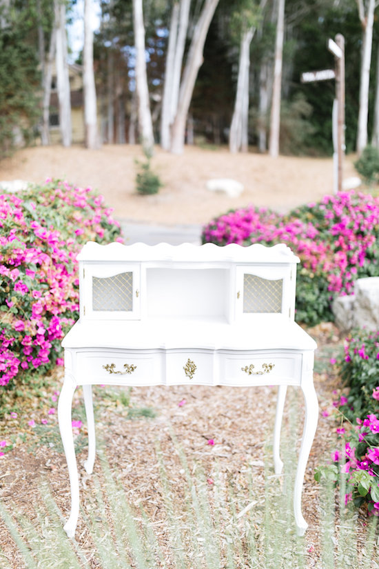 Colette French Writing Desk 1 - Provenance Vintage Rentals Los Angeles Vintage Rentals Near Me French Desk Hutch White Gold French Desk White Gold Wedding Decor Rentals Vintage Furniture Rentals Party Rentals Near Me Los Angeles