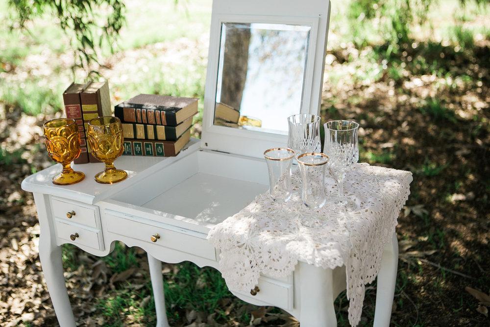 Beverly White Vanity 2 - Provenance Vintage Rentals Los Angeles Vintage Vanity with Mirror Cake Table Welcome Table Vintage Furniture Rentals Party Rentals Los Angeles.jpg
