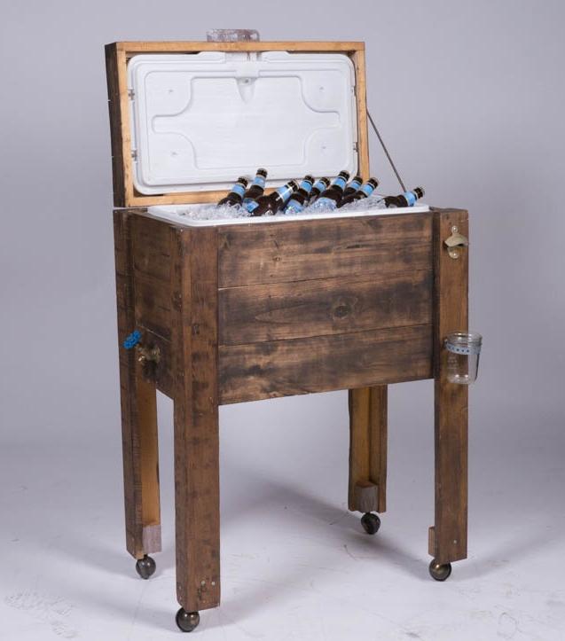 Cowboy Cooler 1 - Provenance Vintage Rentals Los Angeles Rustic Rentals Rustic Bar Outdoor Wedding Rental Decor