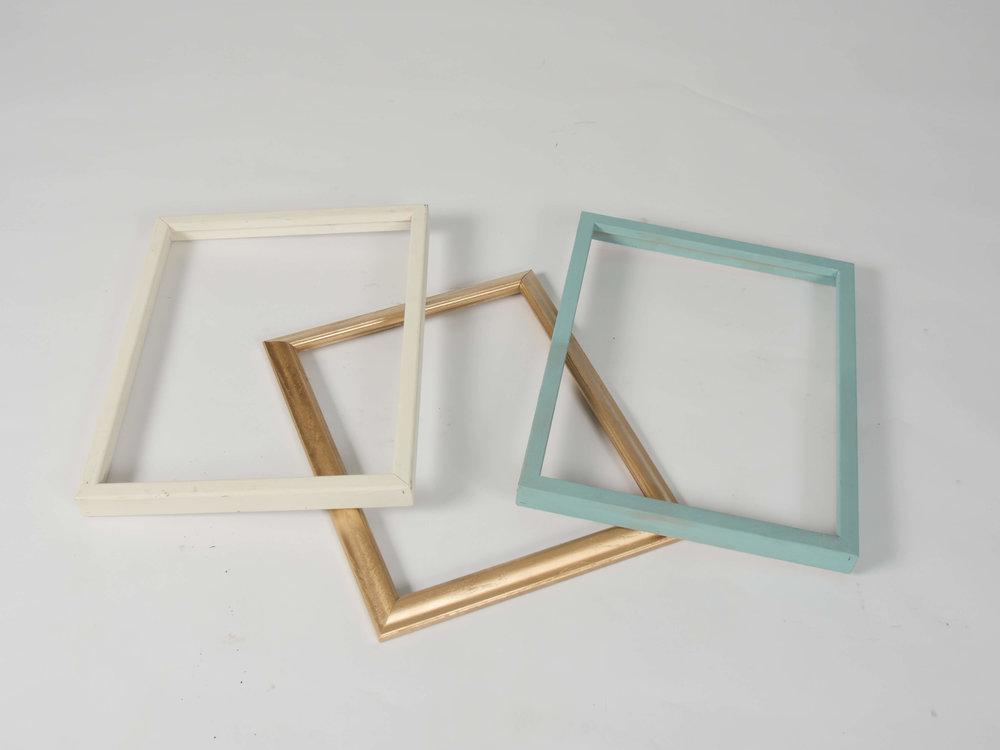 Lucinda Open Frames, Set of Three 2 - Provenance Vintage Rentals Los Angeles Vintage Picture Frame Rentals Frame Backdrop Installation Prop Rental Prop Styling