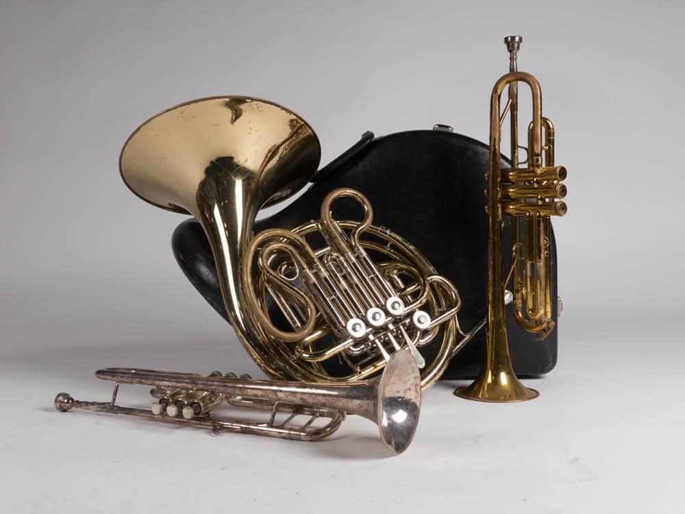 Alan Horns 1 - Provenance Vintage Rentals Musical Instrument Rentals French Horn Trumpet Prop Rentals Prop Rentals Prop Styling