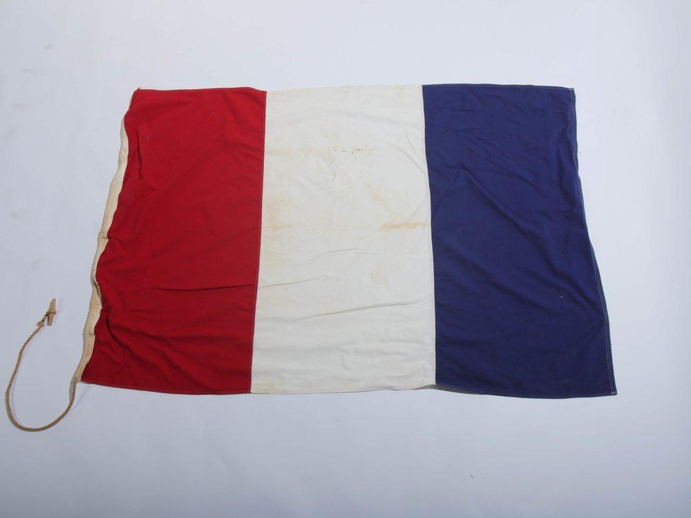 Large Nautical Flag 1 - Provenance Vintage Rentals Los Angeles Vintage Flag Rental Vintage Prop Rental Prop Styling
