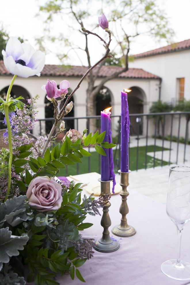 Margaret Brass Candlesticks, Set of Two 1 - Provenance Vintage Rentals Los Angeles Vintage Brass Candlestick Holders Gold Candlesticks Vintage Candle Rentals Vintage Wedding Decor Prop Rentals Specialty Rentals Los Angeles