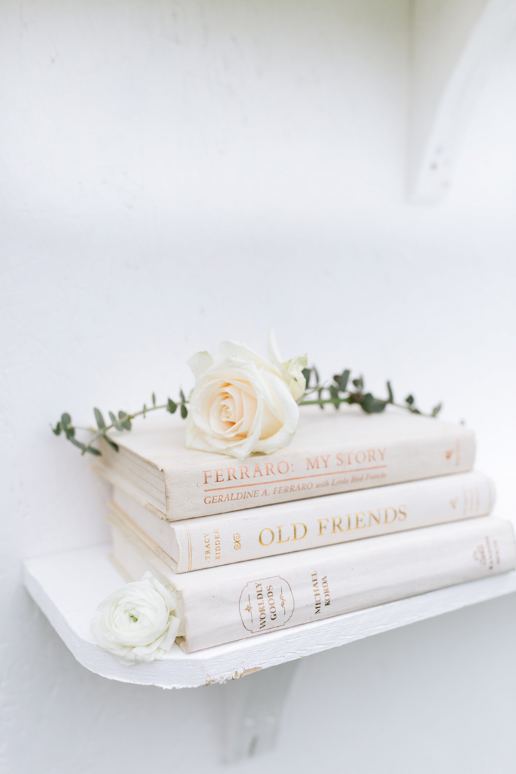 Juniper White Decorative Book Set 1 - Provenance Vintage Rentals Los Angeles Vintage Old Vintage Book Rentals Prop Rentals Party Rentals Specialty Rentals Los Angeles