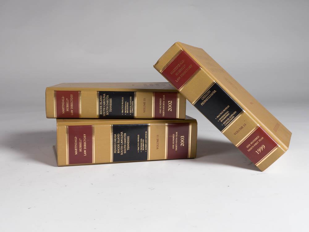 Emanuel Law Books, Set of Three 1 - Provenance Vintage Rentals Los Angeles Vintage Book Rentals Prop Rentals Party Rentals Specialty Rentals