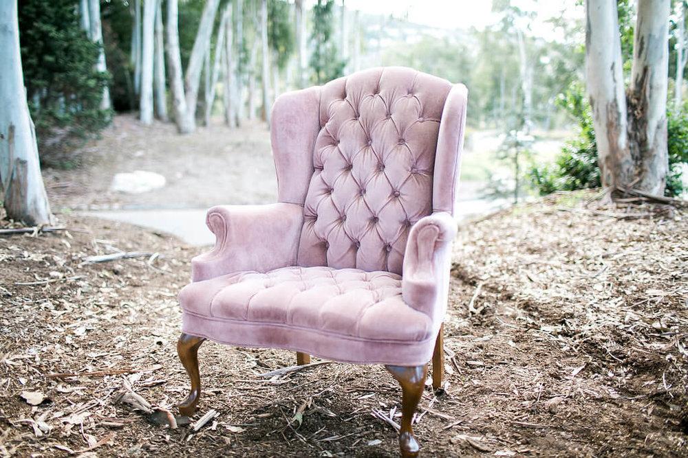 Robin Velvet Tufted Arm Chair 1 -  Provenance Vintage Rentals Los Angeles Pink Purple Vintage Tufted Armchair Furniture Rentals Los Angeles Prop Styling Prop Rental Party Rentals Los Angeles.jpg