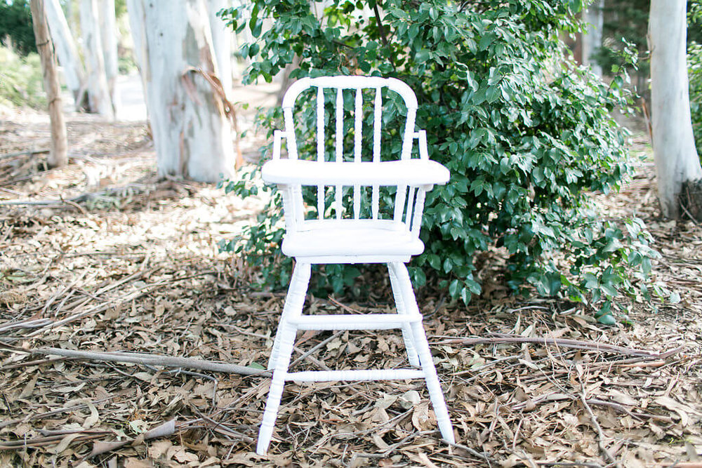 Logan Vintage High Chair 1 - Provenance Vintage Rentals Los Angeles Vintage High Chair Rental Los Angeles First Birthday Party Rentals Party Rentals.jpg