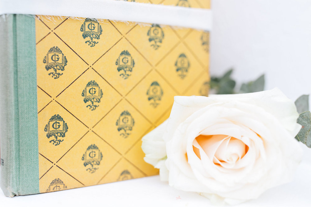 Ginger Yellow Decorative Books, Set of Three