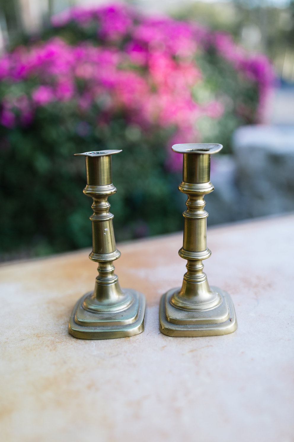 Courtney Brass Candlesticks, Set of Two