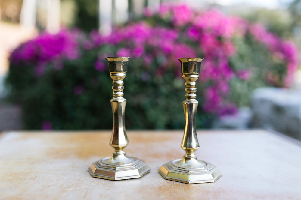 Sadie Gold Candlesticks, Set of Two
