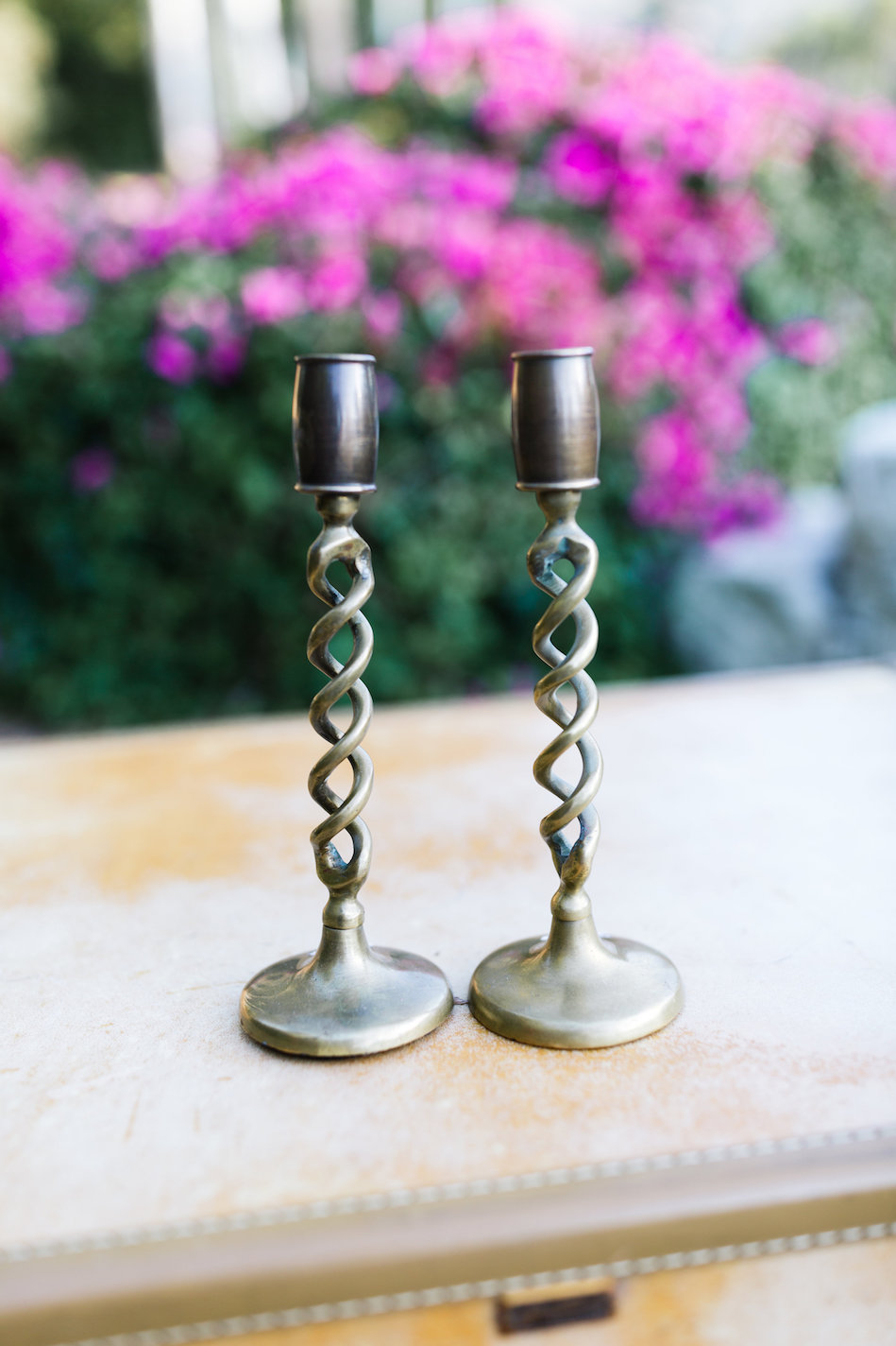 Landry Brass Candlesticks, Set of Two