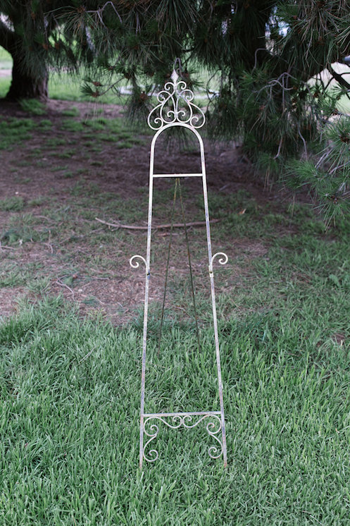 Aurelia Gold Floor Easel 4 - Provenance Vintage Rentals Los Angeles Gold Easel Rentals Sign Holder Welcome Sign Vintage Easel Holder.jpg