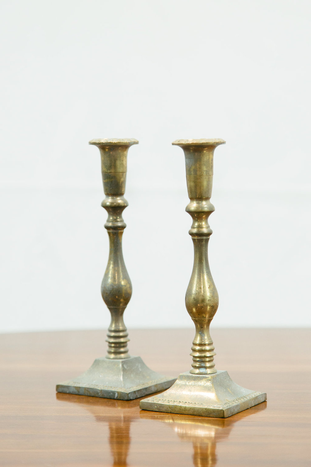 Briar Brass Candlesticks, Set of Two 2 - Provenance Vintage Rentals Los Angeles Vintage Brass Candlestick Holders Gold Candlesticks Vintage Candle Rentals Vintage Wedding Decor Prop Rentals Specialty Rentals Los Angeles.jpg