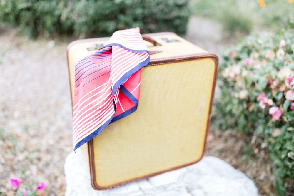 Jacinda Vintage Square Suitcase