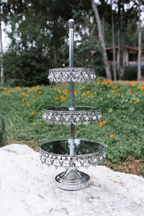 Tatyana Three-Tiered Mirrored Crowned Dessert Stand