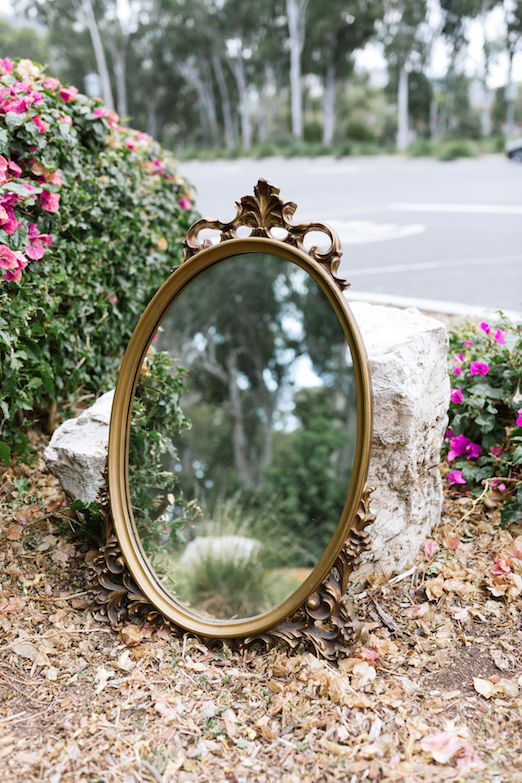 Guinevere Oval Ornate Mirror