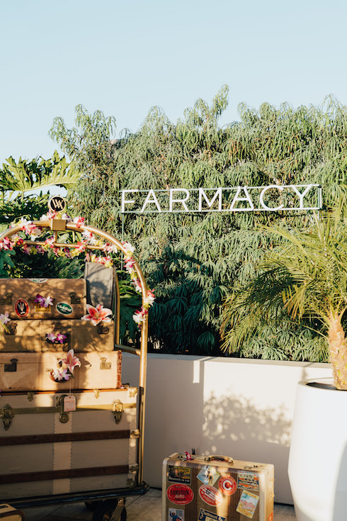 Provenance Vintage Rentals near Me Los Angeles Farmacy Honeymoon Glow Luanch Party Beverly Hills Waldorf Astoria Vintage Luggage 28.jpg